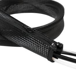 LogiLink Gaine pour câble, 1,0 m, capacité: 20 mm, noir