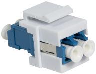 LogiLink Fiche femelle à fibres optiques, 2x LC-Duplex