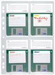 DURABLE Pochette pour disquettes, pour 4 x 3,5' disquettes,