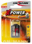ANSMANN Pile alcaline 'X-Power', E-bloc 9V