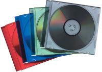 Fellowes pochette vide pour CD Slimline, transparent/assorti