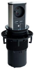 BACHMANN Système multiprise ELEVATOR, 1 UTE FR, 1 x USB