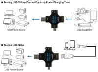 LogiLink Wattmètre digital multifonction, 3 ports