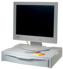 HAN Support pour écran & imprimante MONITOR STAND,gris clair