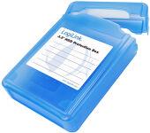LogiLink Boîtier de protection pour disques durs 3,5', bleu