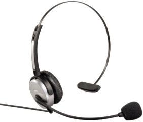 hama Casque micro pour téléphone DECT, argent / anthracite