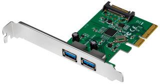 LogiLink Carte PCI Express USB 3.1, 2 ports, 10 Gbps