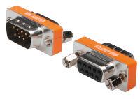 DIGITUS Adaptateur null modem, Sub-D 9 broches, mâle-femelle