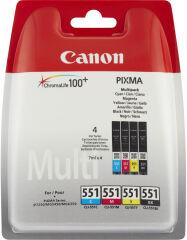 Canon Tinte für Canon Pixma, CLI-551 Multipack