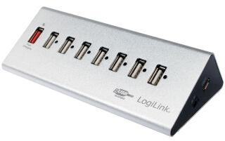 LogiLink Hub USB 2.0 avec bloc d'alimentation, 7 ports +