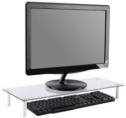 DIGITUS Support pour écran, verre, blanc