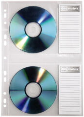 hama Pochette CD/DVD, format A4, PP, pour 2 CD, tranparente
