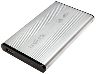 LogiLink Boîtier pour disque dur SATA 2,5', USB 2.0, noir