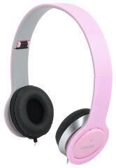 LogiLink Casque audio High Quality, avec coussinet, rose