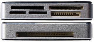DIGITUS Lecteur de carte USB 2.0 'tout-en-un', noir / argent