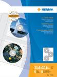 HERMA pochette perforée CD/DVD pour 6 CD, A4, 306,5 x 233 mm