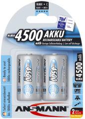 ANSMANN Pile rechargeable NiMH max E, Baby (C), 4.500 mAh