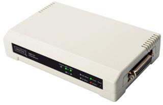 DIGITUS Serveur d'impression Fast Ethernet, 3 ports, blanc