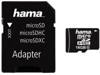 hama Carte mémoire Micro SecureDigital High Capacity, 16 Go
