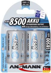 ANSMANN Pile rechargeable NiMH maxE, Mono (D), 8.500 mAh
