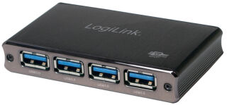 LogiLink Hub USB 3.0 avec bloc d'alimentation, 4 ports,
