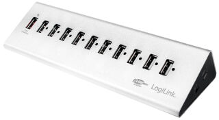 LogiLink Hub USB 2.0 avec bloc d'alimentation, 10 ports + 1
