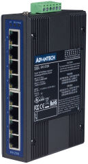 ADVANTECH Switch Unmanaged Industrial Ethernet, 8 ports