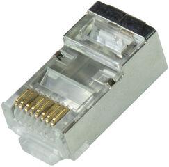 LogiLink Connecteur modulaire RJ45 Cat.6A, blindé, argent