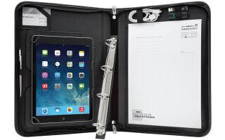 WEDO Organiseur universel tablette PC Elegance, A4, noir
