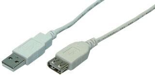 LogiLink Rallonge USB 2.0, gris, 3,0 m