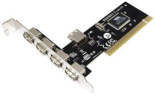 LogiLink Carte PCI USB 2.0, 4 + 1 ports, chipset VIA