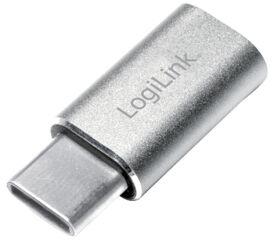 LogiLink Adaptateur USB, USB-C mâle - micro USB femelle