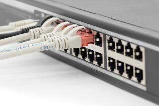 DIGITUS Switch Ethernet 19' Gigabit, 24 ports, couleur: noir
