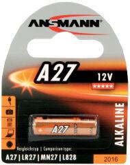 ANSMANN Pile alcaline A27, 12 Volt, blister de 1