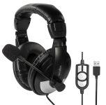 LogiLink Casque audio USB, avec microphone, noir