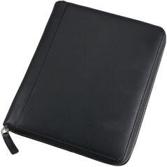 Alassio Organiseur iPad, similicuir, bloc inclus, noir