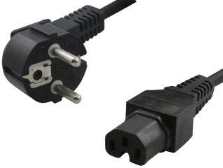 LogiLink Câble d'alimentation contact de securité, coudé, 2m