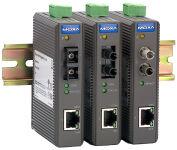 MOXA Convertisseur média Industrial Ethernet, sans alarme