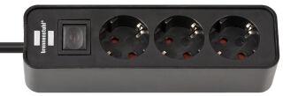 brennenstuhl Steckdosenleiste Ecolor, 3-fach, schwarz