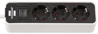 brennenstuhl Steckdosenleiste Ecolor, 3-fach, schwarz / weiß