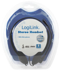 LogiLink Casque micro Easy, avec microphone, noir