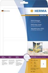 HERMA Jaquette DVD, pour étuis DVD, 183,0 x 273,0 mm, blanc