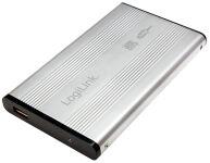 LogiLink Boîtier pour disque dur SATA 2,5', USB 2.0, argent