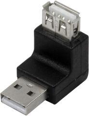 LogiLink Adaptateur USB 2.0, USB-A mâle- femelle, 270 degrés