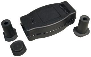 BACHMANN Kit de boîte à câbles 9002, 4 pièces, IP44, noir