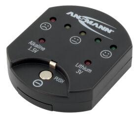 ANSMANN Testeur de piles, pour piles boutons, noir