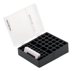 ANSMANN Boîte de rangement pour piles, avec testeur de piles