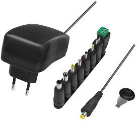 LogiLink Chargeur universel avec port USB, 24 Watt, noir