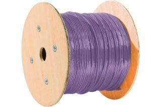 câble double monobrin F/UTP CAT6 violet LS0H RPC Eca - 305 m