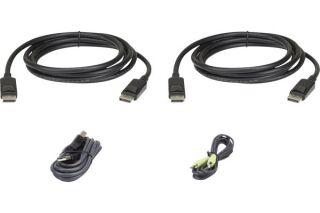 ATEN 2L-7D03UDPX5 CABLE KVM DualDisplayPort USB audio - 3 m
